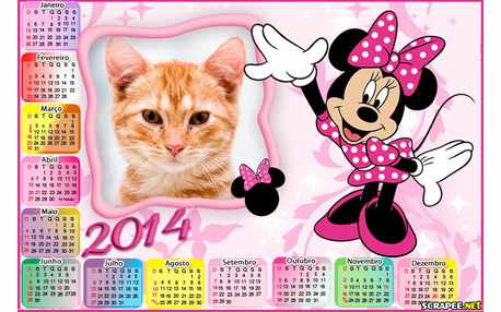 Moldura - Calendario Minnie Mouse