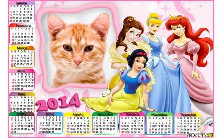 Moldura - Calendario Princesas Disney