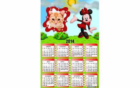 Moldura - Calendario Minnie Jovem