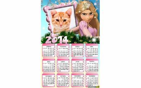 Moldura - Calendario Da Rapunzel