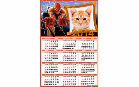 Moldura - Calendario 2014 Do Homem Aranha