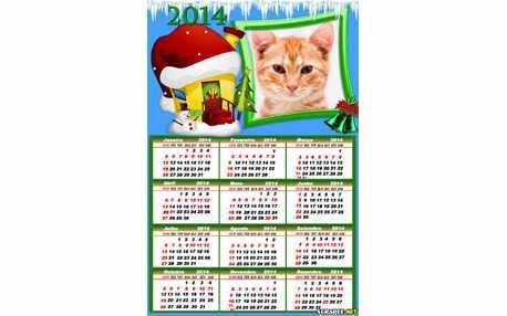 Moldura - Calendario Natal 2014