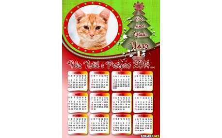Moldura - Calendario Pinheirinho De Natal