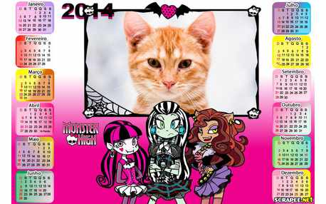 Moldura - Calendario Da Monster High
