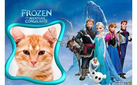 Moldura - Frozen Uma Aventura Congelante