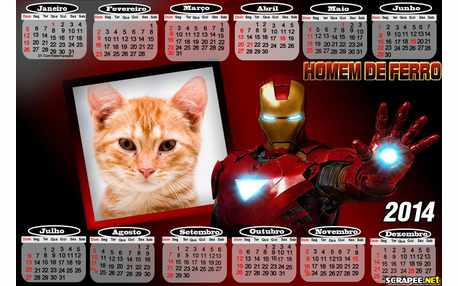 Moldura - Calendario Homem De Ferro 2014