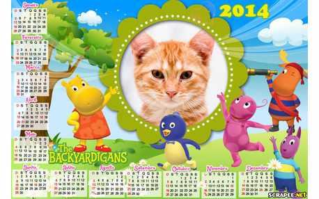 Moldura - Calendario Backyardigans 2014