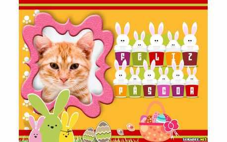 Moldura - Pascoa Feliz