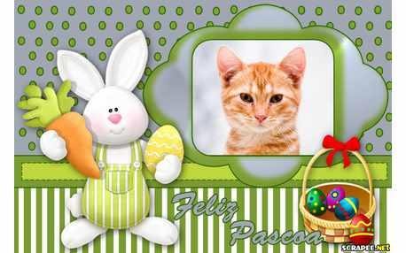 Moldura - Pascoa Feliz   O Coelhinho Lembrou De Mim