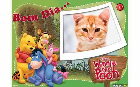 Moldura - Bom Dia Ursinho Pooh