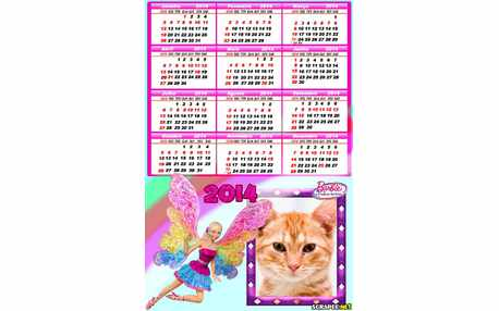Moldura - Calendario Barbie Fairytopia 2014