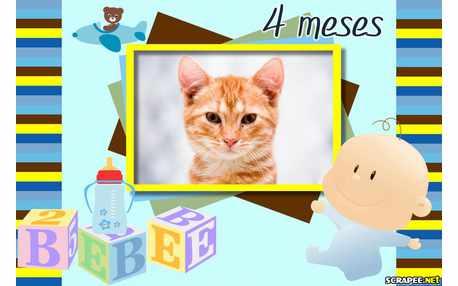 Moldura - Bebe Menino 4 Meses