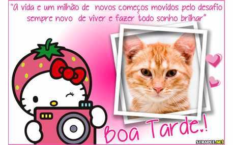 Moldura - Tarde Encantadora Hello Kitty