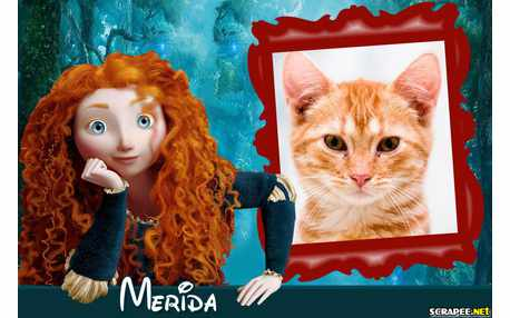 Moldura - Merida Do Filme Valente Da Disney