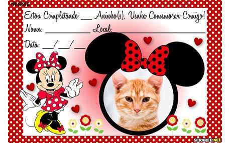 Moldura - Convite Minnie Vermelha