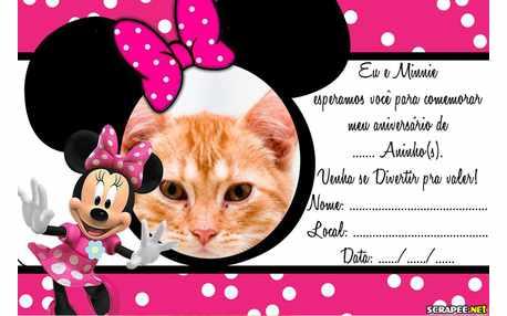 Moldura - Convite Minnie Rosa
