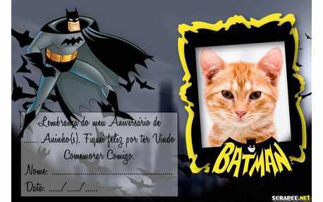 Moldura - Lembrancinha Do Batman