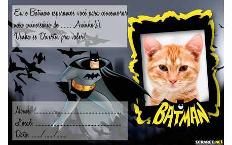 Moldura - Convite Do Batman