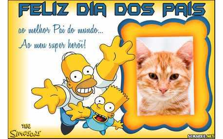 Moldura - Papai Simpson