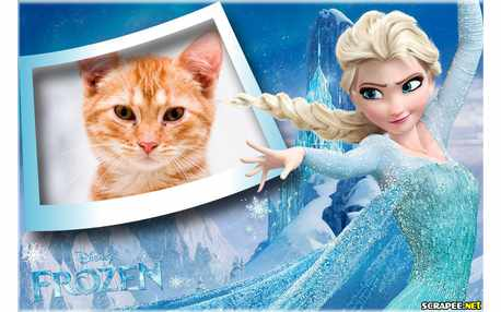 Moldura - Elsa Do Filme Frozen