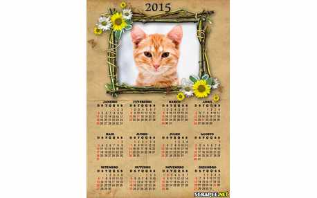 Moldura - Calendario 2015 De Flores