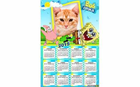 Moldura - Calendario Bob Esponja 2015