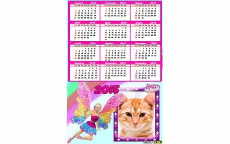 Moldura - Calendario Barbie Fada