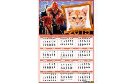 Moldura - Calendario Homem Aranha