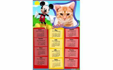 Moldura - Calendario Mikey Mouse