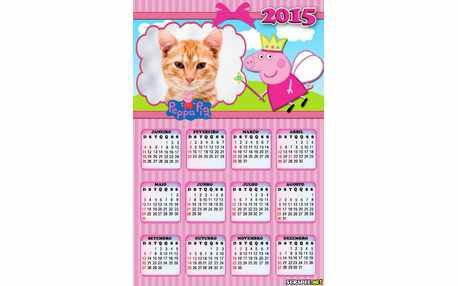 Moldura - Calendario Peppa Princesa
