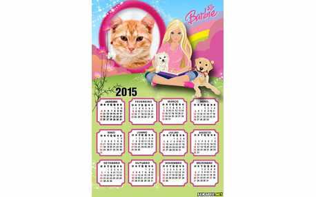 Moldura - Calendario Barbie Jovem