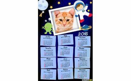 Moldura - Calendario Astronaltas