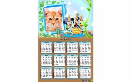 Moldura - Calendario Aniversario Do Mikey