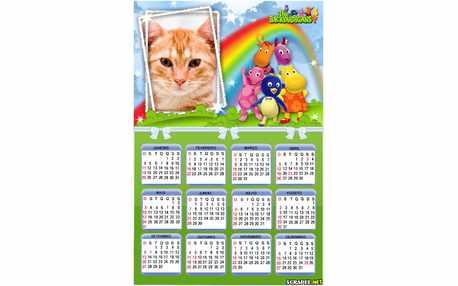 Moldura - Calendario 2015 Backyardigans