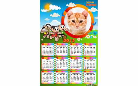 Moldura - Calendario Turma Da Monica
