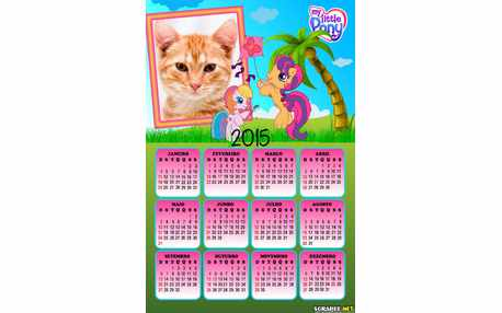 Moldura - Calendario My Little Poney
