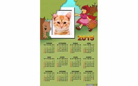 Moldura - Calendario Do Chapeuzinho Vermelho
