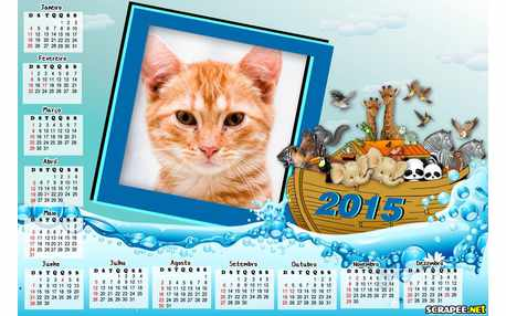 Moldura - Calendario 2015 Da Arca