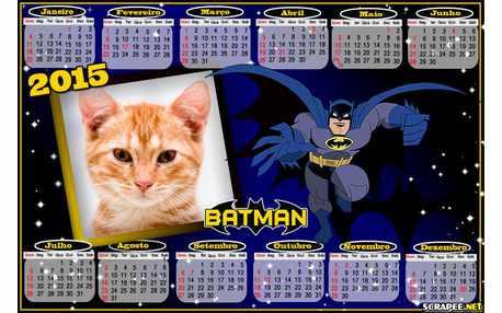 Moldura - Calendario 2015 Batman