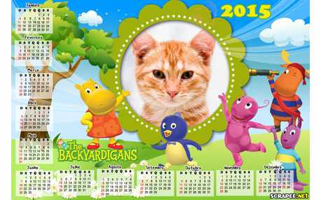Moldura - Calendario The Backyardigans