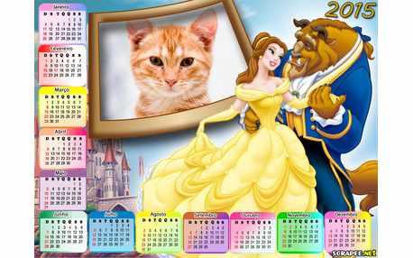Moldura - Calendario Bella E A Fera