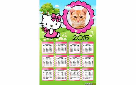 Moldura - Calendario 2015 Hello Kitty