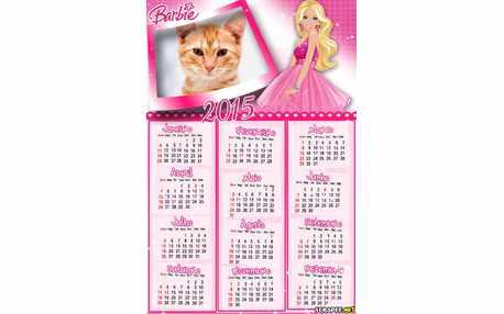 Moldura - Calendario 2015 Da Barbie