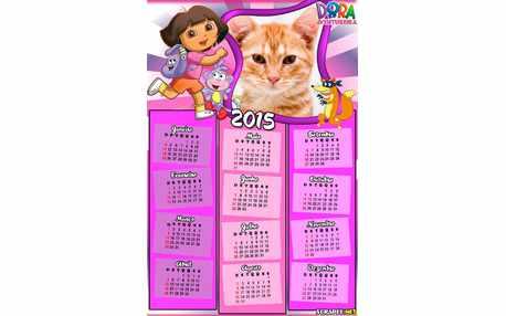 Moldura - Calendario 2015 Dora Aventureira