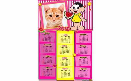 Moldura - Calendario 2015 Magali