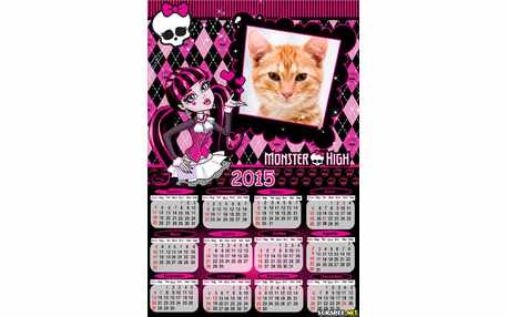 Moldura - Calendario Monster High 2015
