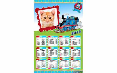 Moldura - Calendario Thomas O Trem 2015