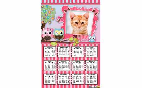 Moldura - Calendario Corujinhas 2015