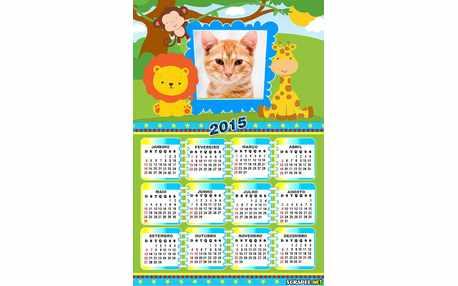 Moldura - Calendario Safari 2015