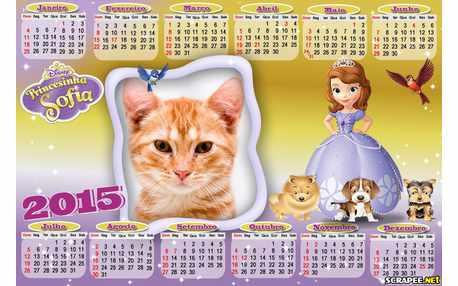 Moldura - Calendario Princesinha Sophia